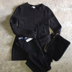 Black silver  shimmer sweater